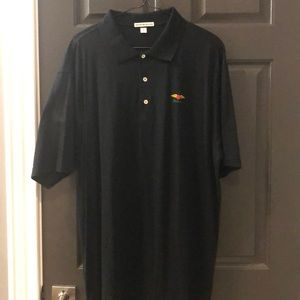 Men's Peter Millar black polo. XL